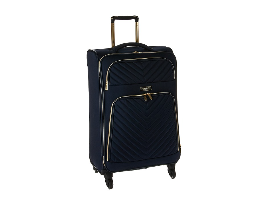 Kenneth Cole Reaction Chelsea 24 Quilted Expandable 4-Wheel Upright Pullman (Navy) Luggage