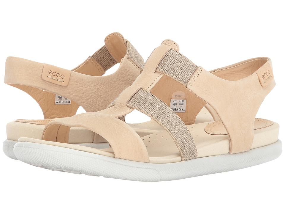 ECCO Damara Elastic Sandal (Powder Cow Nubuck) Women