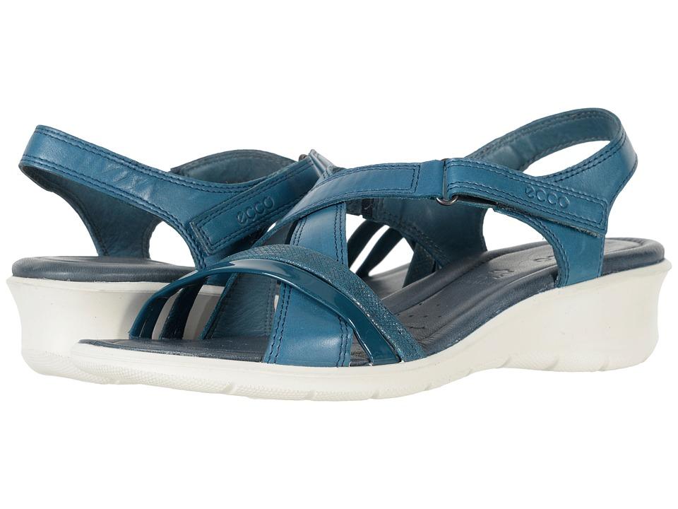 ECCO Felicia Sandal (Dark Petrol/Dark Petrol Cow Leather/Cow Suede) Sandals