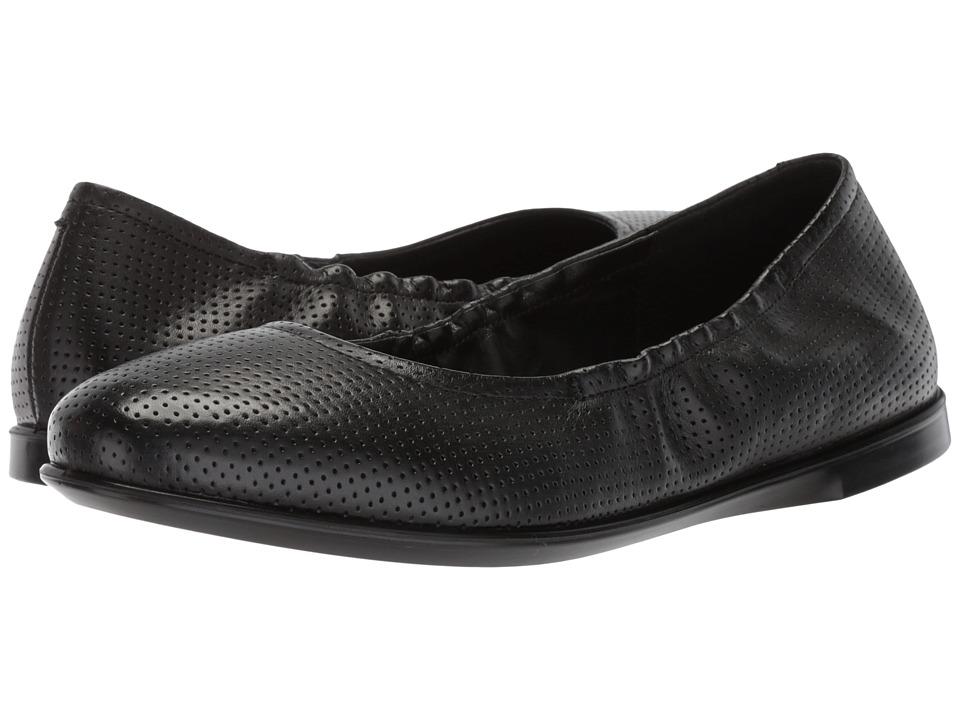 ECCO Incise Enchant Ballerina (Black Calf Leather) Flats