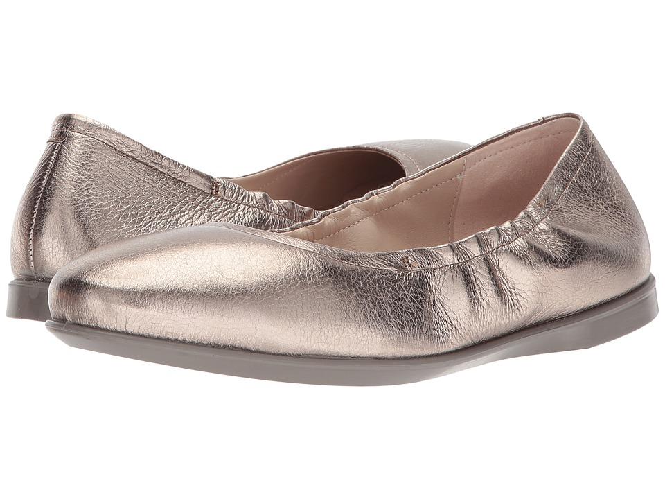 ECCO Incise Enchant Ballerina (Warm Grey Cow Leather) Women