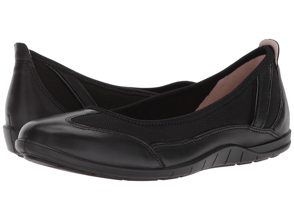 ECCO Bluma Summer Ballerina (Black/Black) Women's Shoes