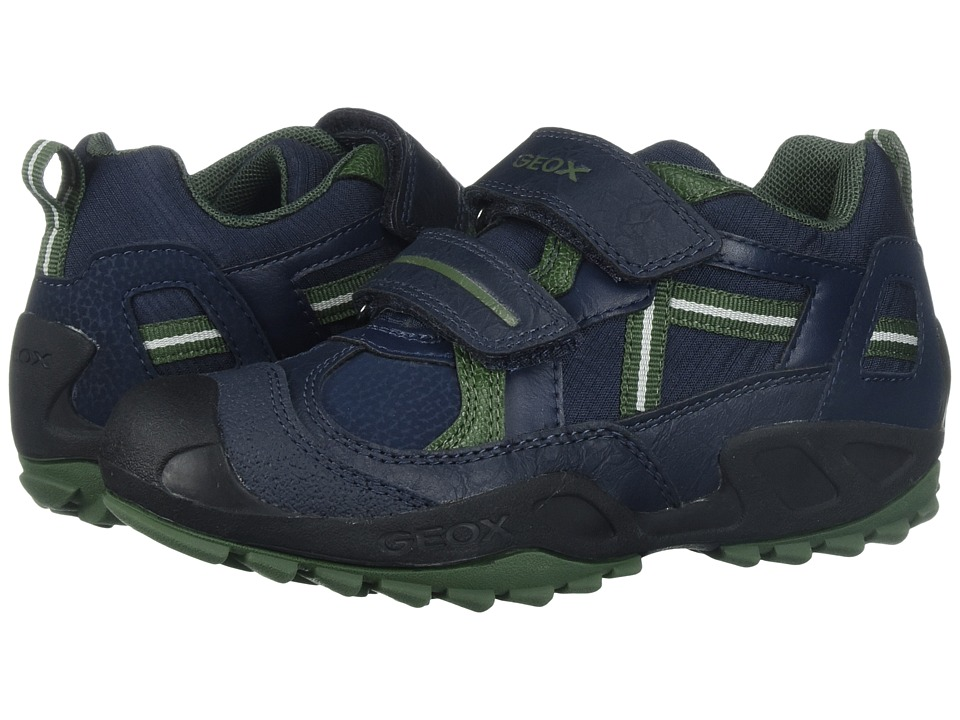 Geox Kids Jr Savage 5 (Toddler/Little Kid) (Navy/Green) Boy's Shoes