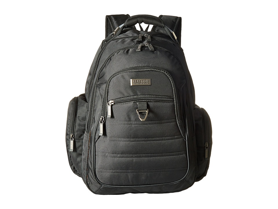 Kenneth Cole Reaction - Dual Compartment 15.6 Computer Backpack (Black) Backpack Bags
