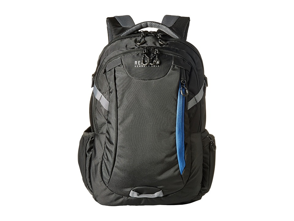 Kenneth Cole Reaction - Dual Compartment Computer Backpack (Black/Bayview) Backpack Bags