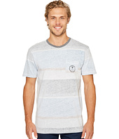 VISSLA - Waterline Short Sleeve Crew Knit with All Over Reverse Print