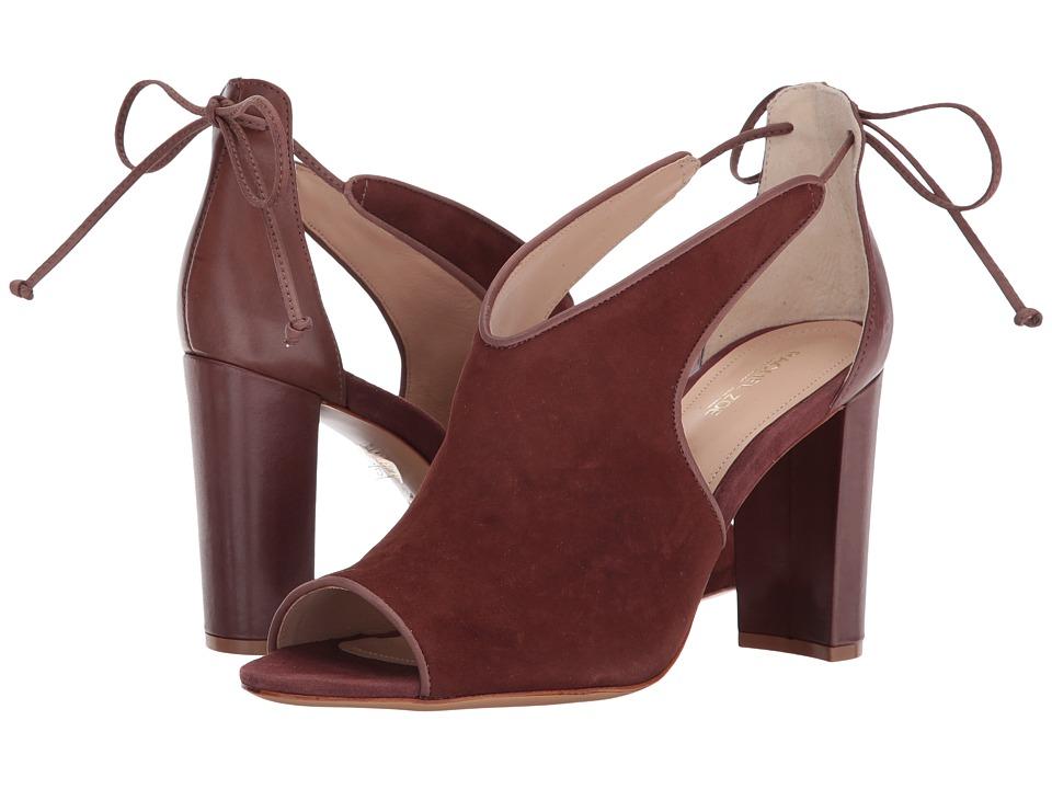 Rachel Zoe - Stephanie Peep-Toe (Dark Rosewood Suede) Womens Toe Open Shoes