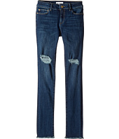DL1961 Kids - Dark Wash Distressed Skinny with Super Frayed Hem Jeans in Willow (Big Kids)
