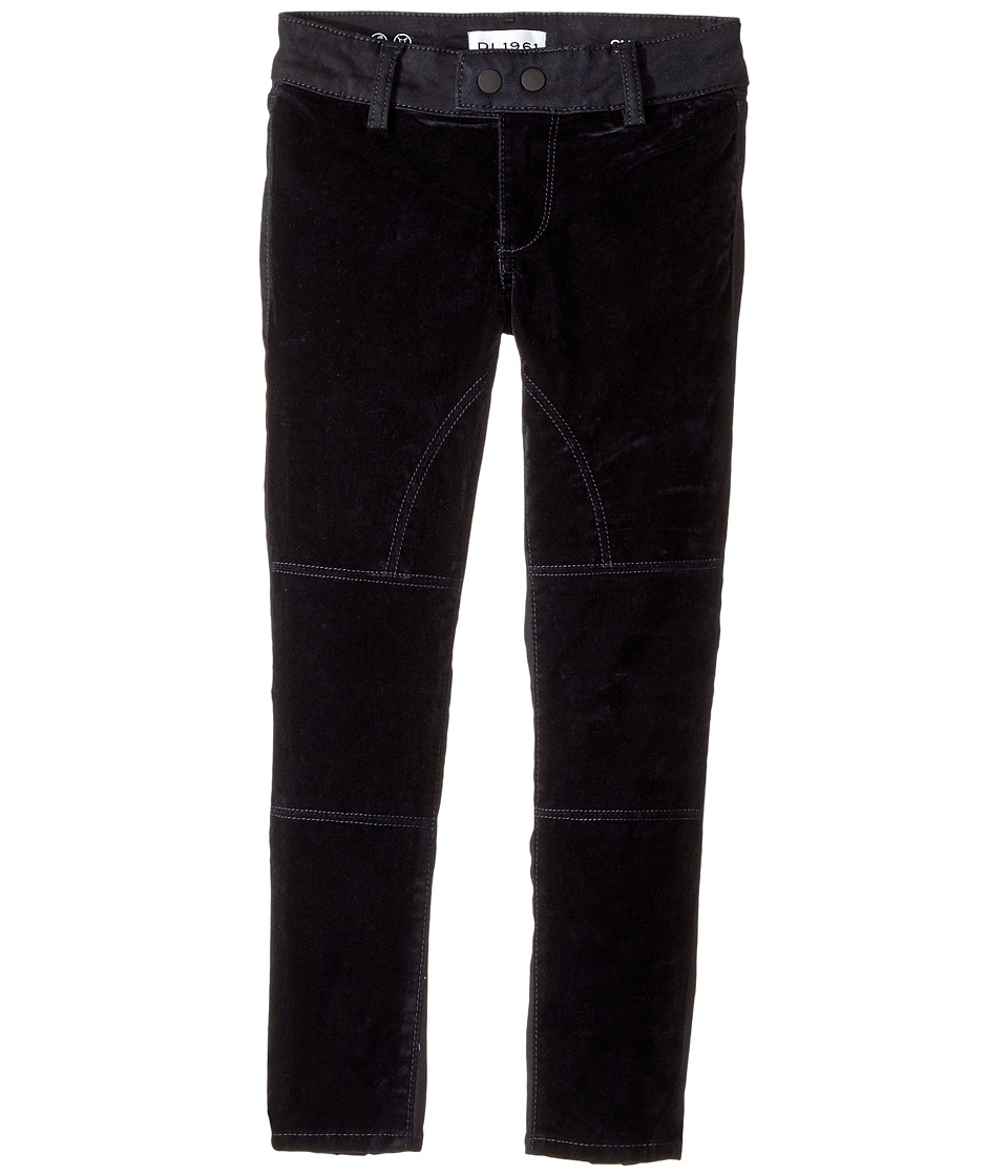 DL1961 Kids Chloe Two-Tone Skinny Jeans in Blue Velvet (Big Kids) (Blue Velvet) Girl