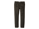 DL1961 Kids - Forest Twill Skinny with Raw Hem Pants in Green Overdye (Toddler/Little Kids)