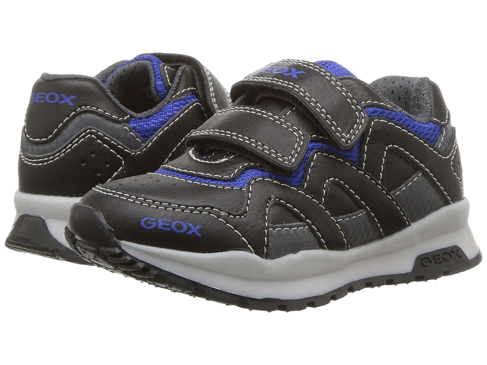 Geox Kids Jr Pavel 17 (Toddler/Little Kid) (Black/Royal) Boy's Shoes