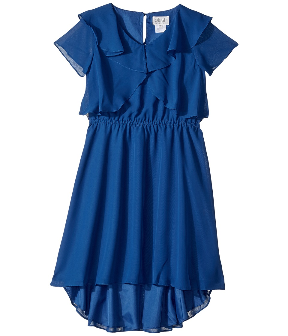 Us Angels - Flutter Sleeve Ruffle Front with Hi