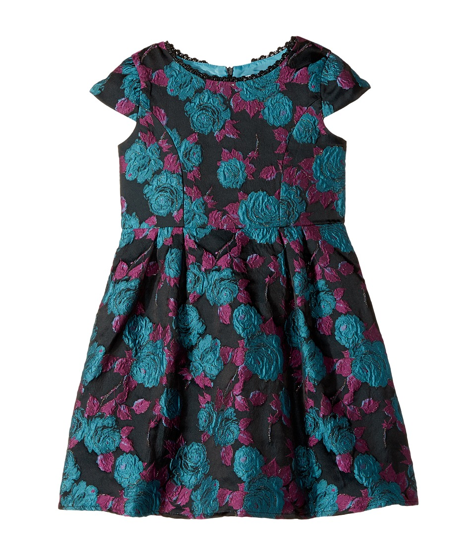 Us Angels - Cap Sleeve Princess Bodice with A Full Skirt and Flower Dress