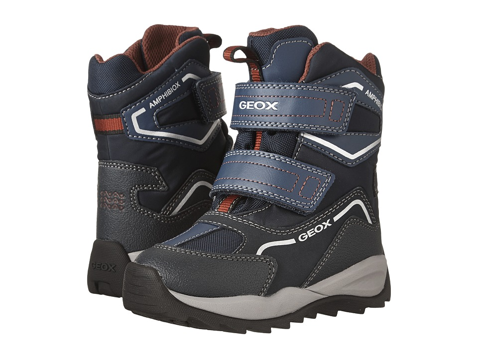 Geox Kids Jr Orizont Boy ABX 8 (Toddler/Little Kid) (Navy/Bordeaux) Boy's Shoes