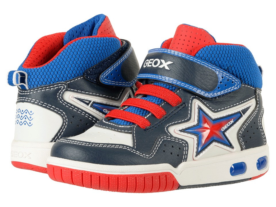 Geox Kids Jr Gregg 20 (Toddler/Little Kid) (Navy/White) Boy's Shoes