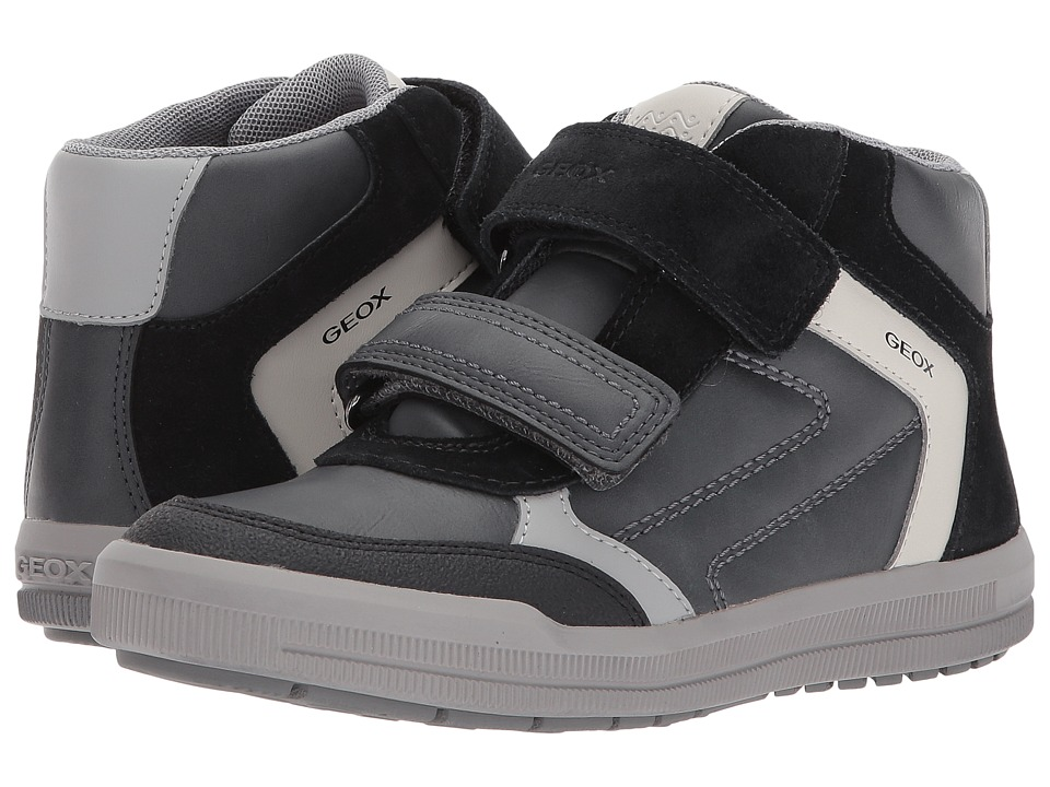 Geox Kids - Jr Arzach Boy 2 (Little Kid/Big Kid) (Dark Grey/Black) Boys Shoes