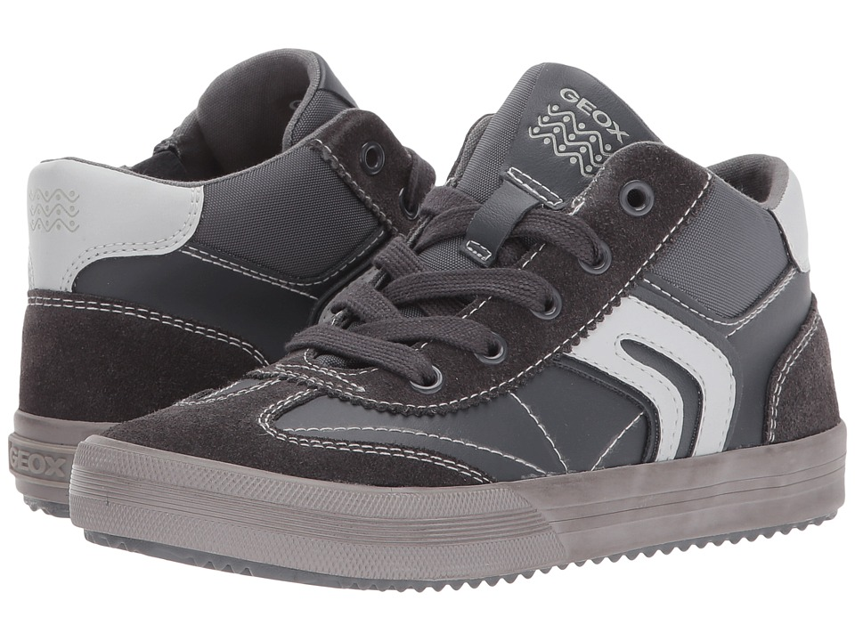 Geox Kids Jr Alonisso Boy 13 (Little Kid/Big Kid) (Dark Grey/Grey) Boy's Shoes