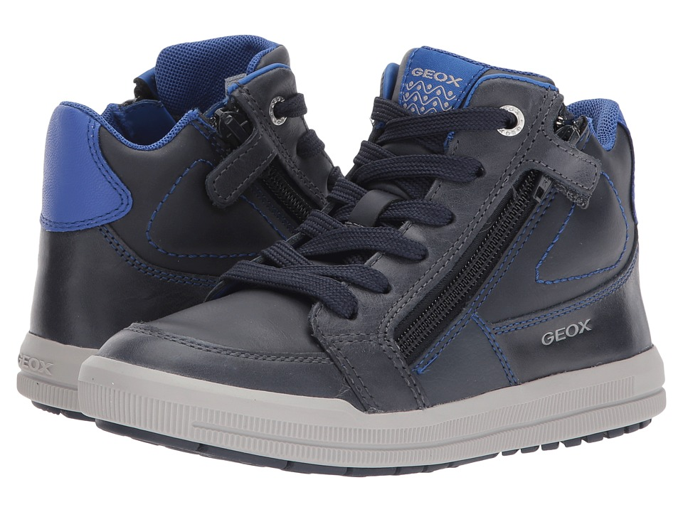 Geox Kids Jr Arzach Boy 5 (Little Kid/Big Kid) (Navy/Royal) Boy's Shoes