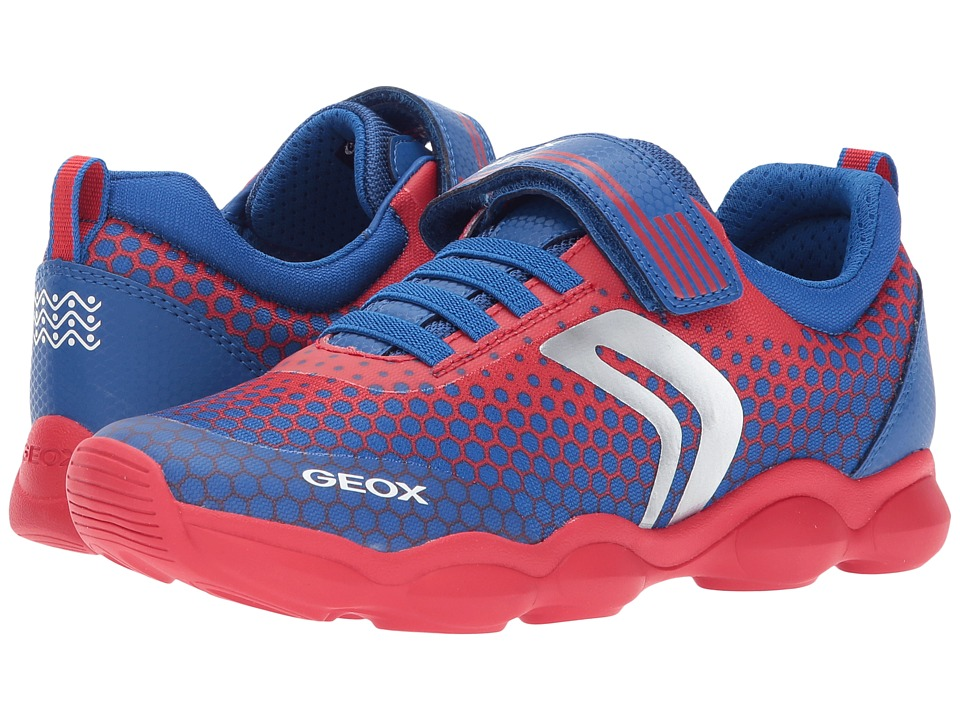 Geox Kids Jr Munfrey Boy 3 (Big Kid) (Red/Royal) Boy's Shoes