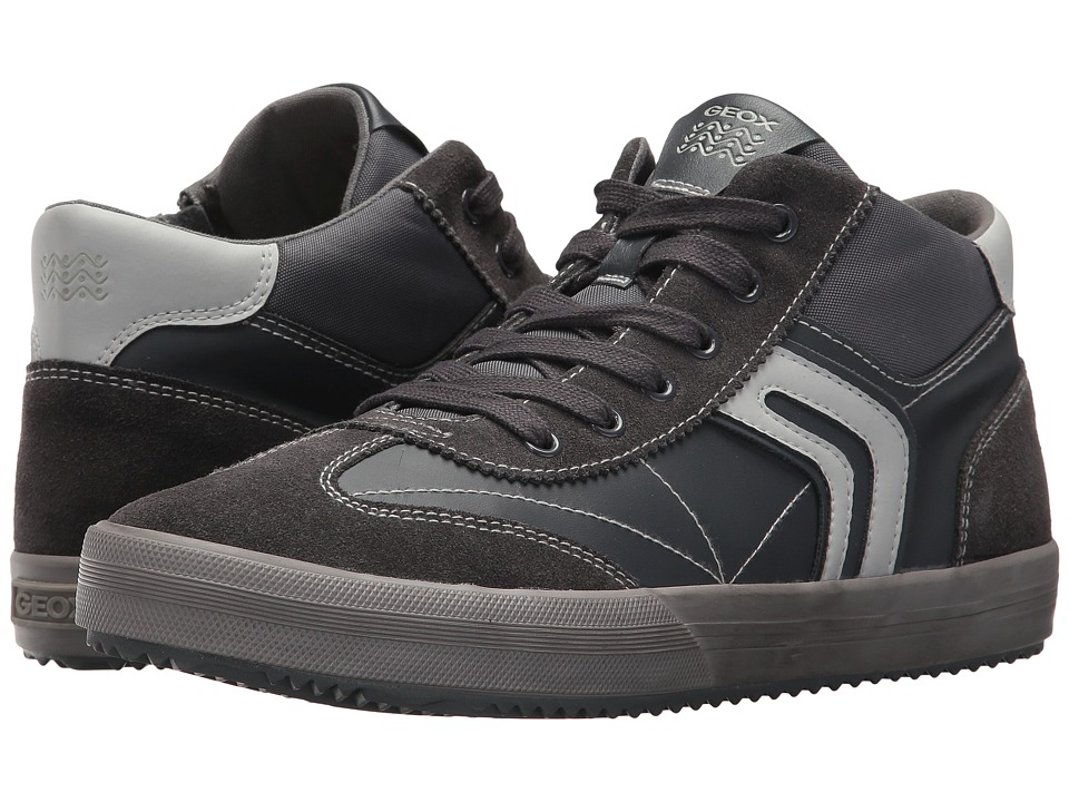 Geox Kids Jr Alonisso Boy 13 (Big Kid) (Dark Grey/Grey) Boy's Shoes