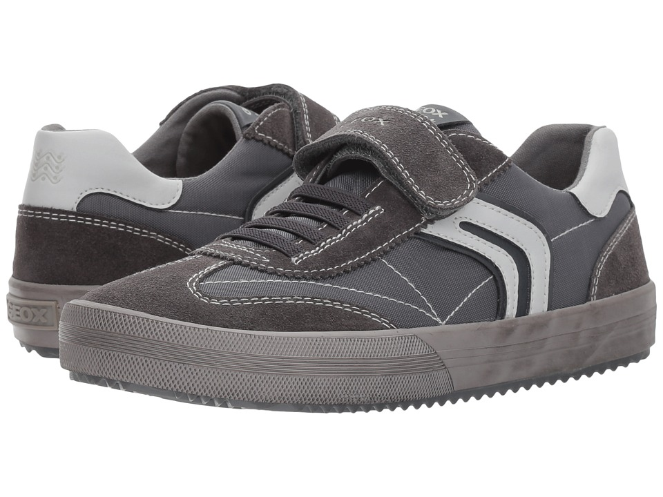 Geox Kids Jr Alonisso Boy 14 (Big Kid) (Dark Grey/Grey) Boy's Shoes