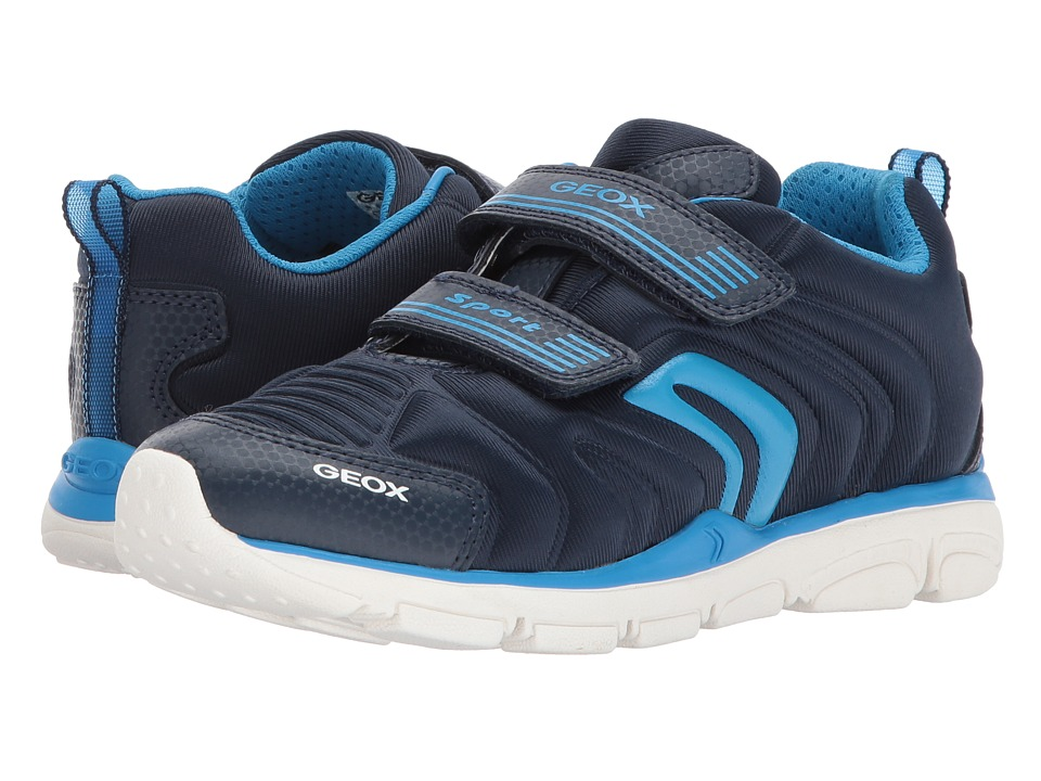 Geox Kids Jr Torque Boy 7 (Little Kid/Big Kid) (Light Blue) Boy's Shoes