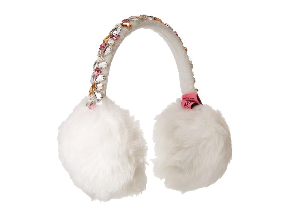 Betsey Johnson - Bejeweled Faux Fur Earmuffs