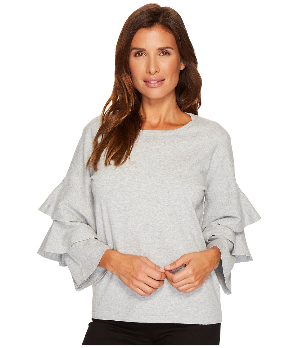 CeCe - Tiered Ruffle Sleeve Crew Neck Sweater