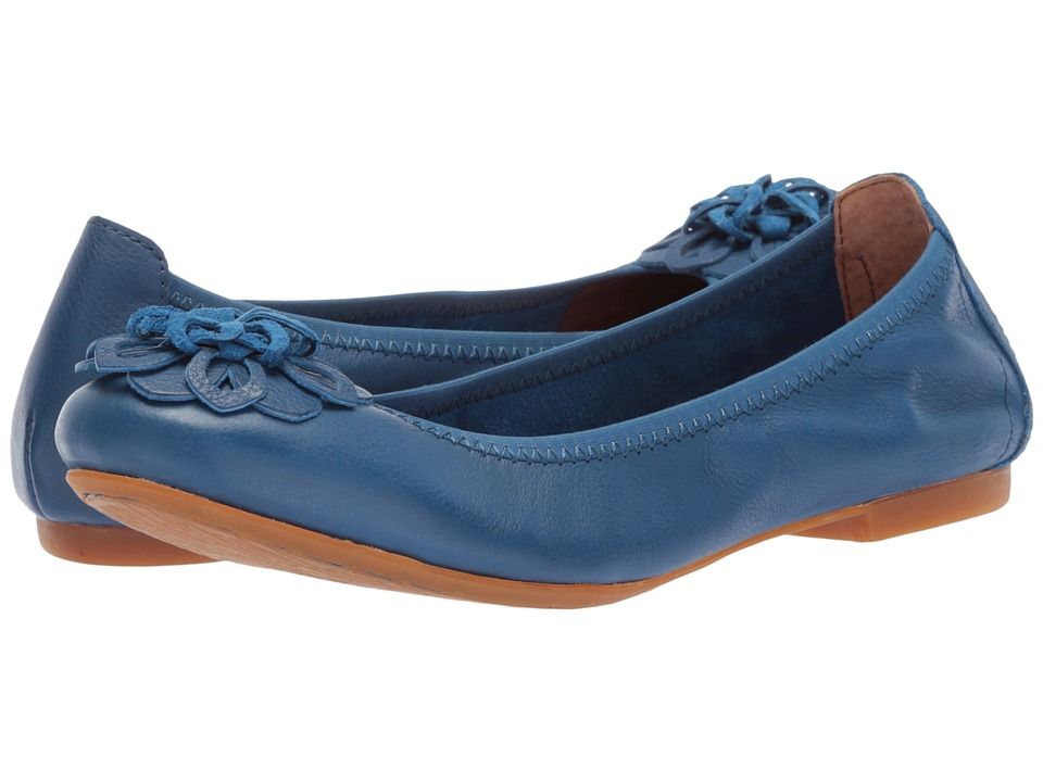 Born - Julianne Floral (Blue (Electric Blue) Full Grain Leather) Womens Slip on  Shoes