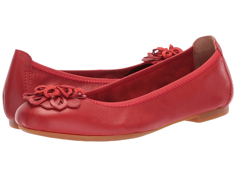 Born Julianne Floral (Red (Flame Red) Full Grain Leather) Women