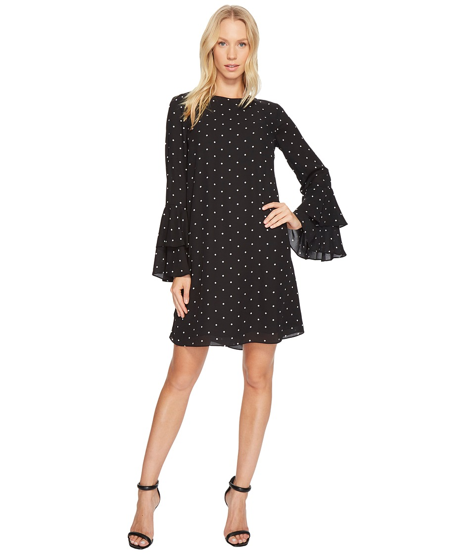 CeCe - Bell Sleeve Gallery Polka Dots Dress