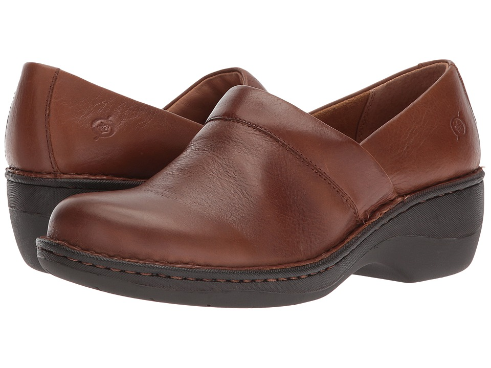 Born Toby Duo (Brown (Cognac) Full Grain Leather) Slip-On Shoes