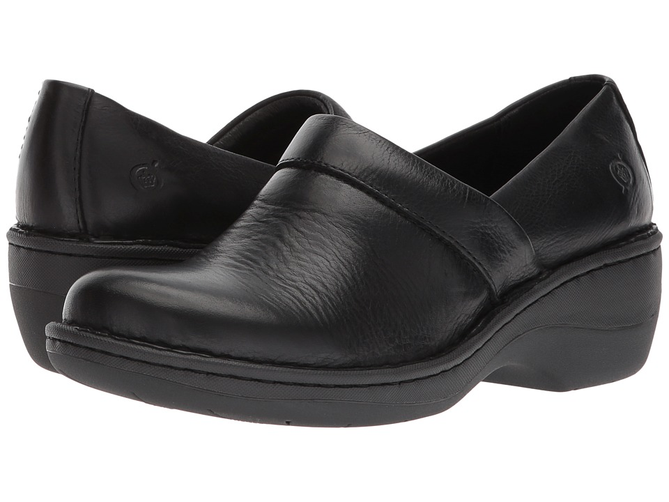 Born Toby Duo (Black Full Grain Leather) Slip-On Shoes