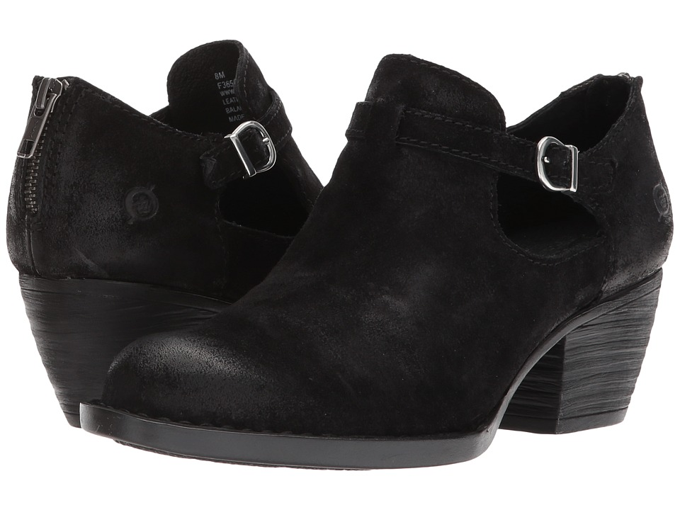 Born Mendocino (Black Distressed Leather) Clogs