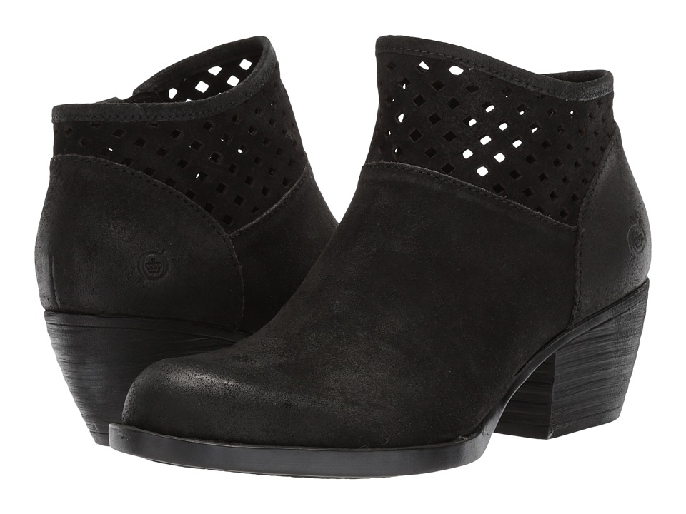 Born - Winema (Black Distressed Leather) Womens Clog Shoes