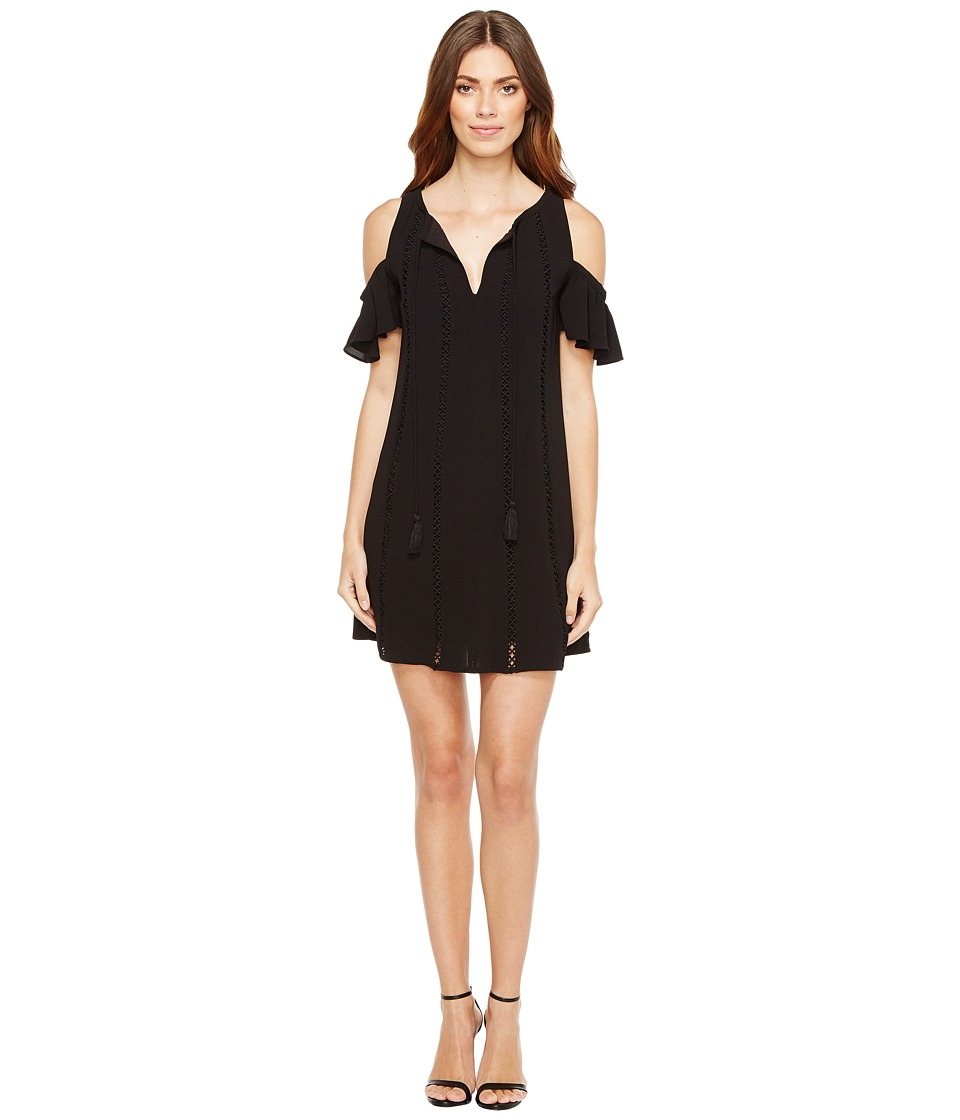 Jessica Simpson - Cold Shoulder Dress w/ Ties (Black) Womens Dress