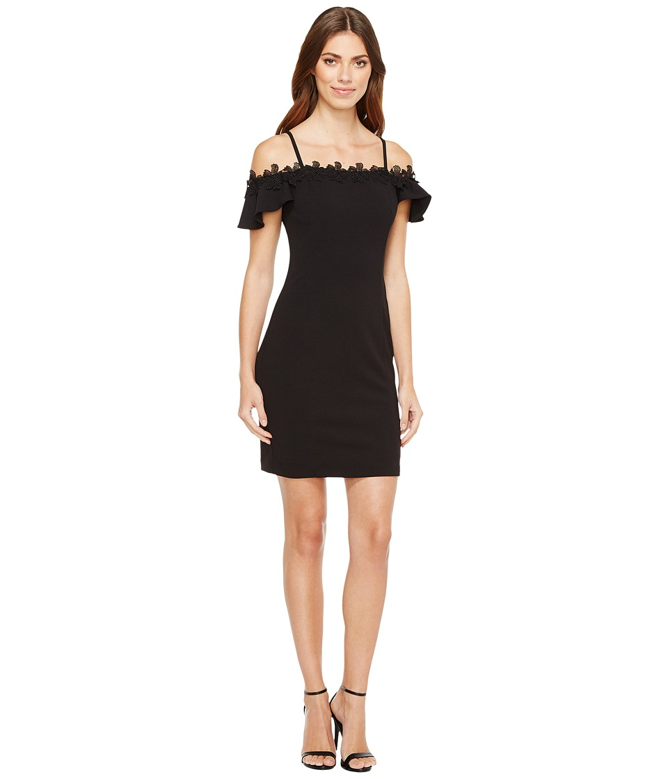 Jessica Simpson - Off the Shoulder Dress (Black) Womens Dress