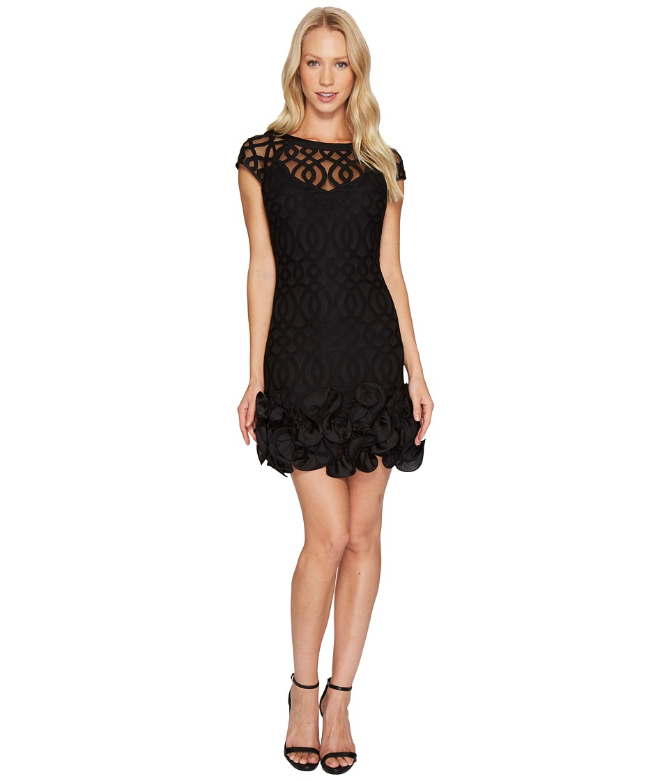 Jessica Simpson - Ruffle Bottom Lattice Dress (Black) Womens Dress