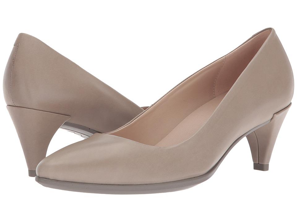 ECCO Shape 45 Sleek Pump (Moon Rock Calf Leather) 1-2 inch heel Shoes