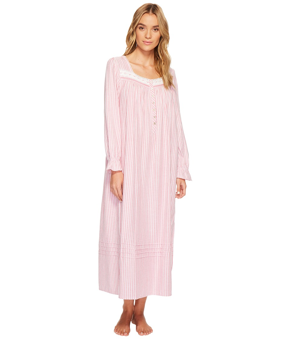 Eileen West Flannel Ballet Long Sleeve Nightgown (Ruby Re...