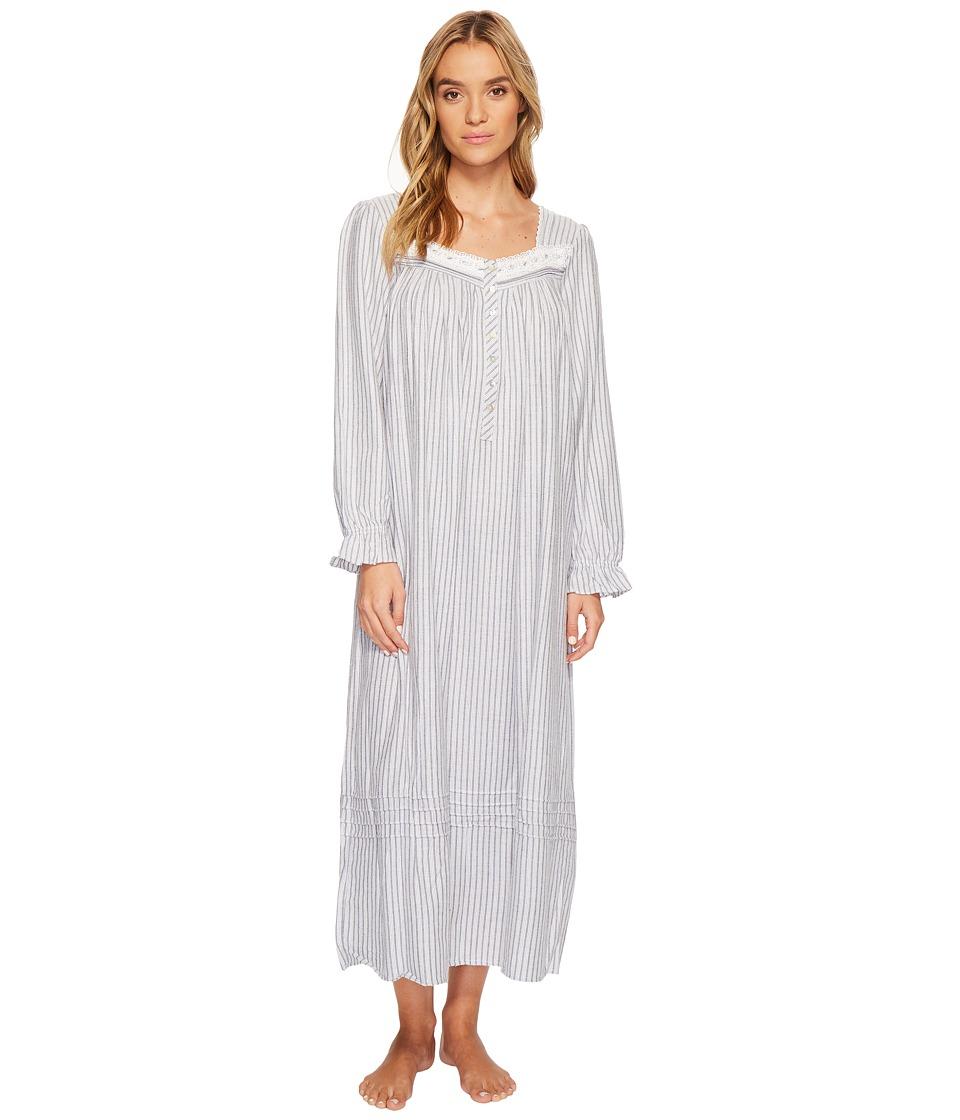 Eileen West - Flannel Ballet Long Sleeve Nightgown