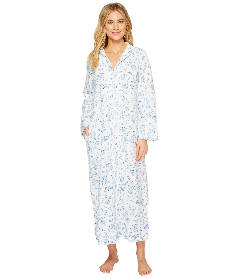 Carole Hochman - Printed Long Zip Robe