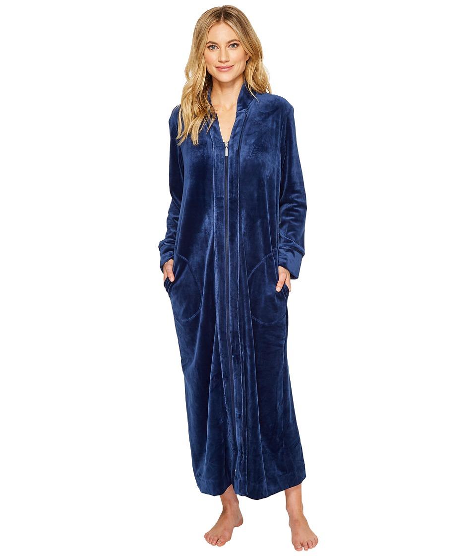 Carole Hochman - Velvet Long Zip Robe