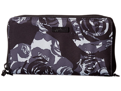 Ju-Ju-Be Onyx Be Spendy Zip Around Clutch Wallet - Black Petals