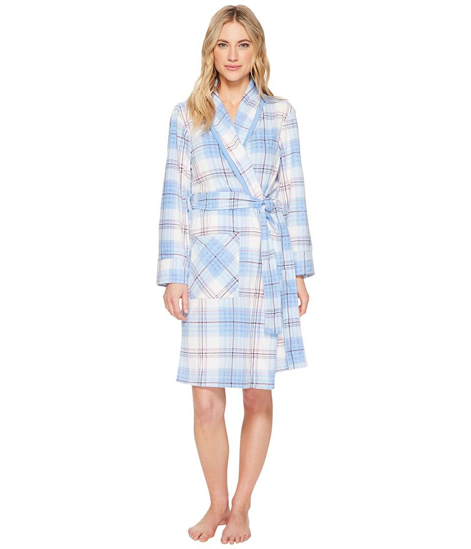 JOCKEY Microfleece Long Robe (Dizzy Plaid) Women's Robe