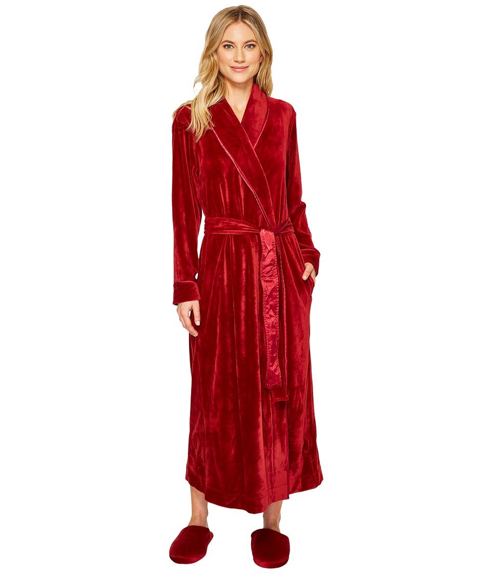 Carole Hochman - Velvet Long Wrap Robe with Slipper