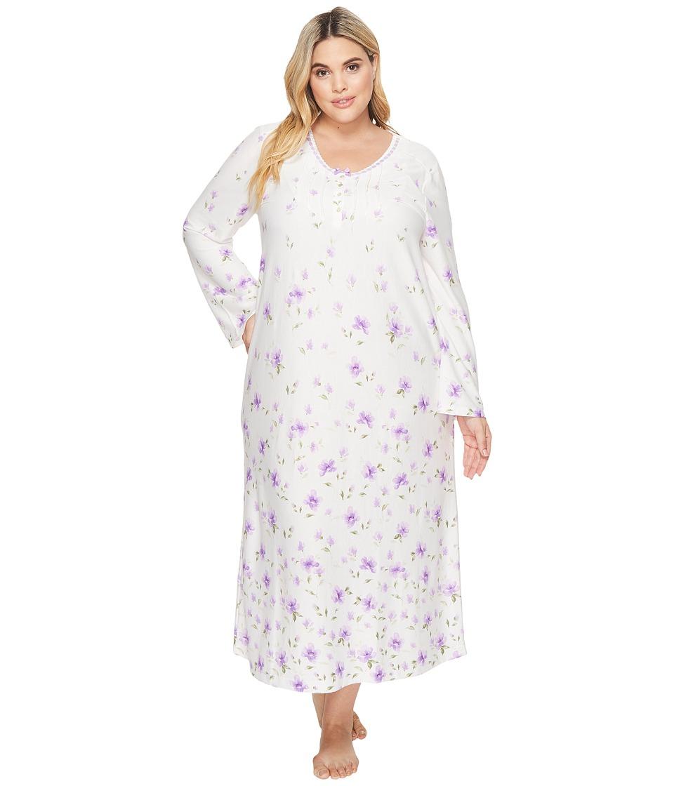 Carole Hochman - Plus Size Border Print Long Gown