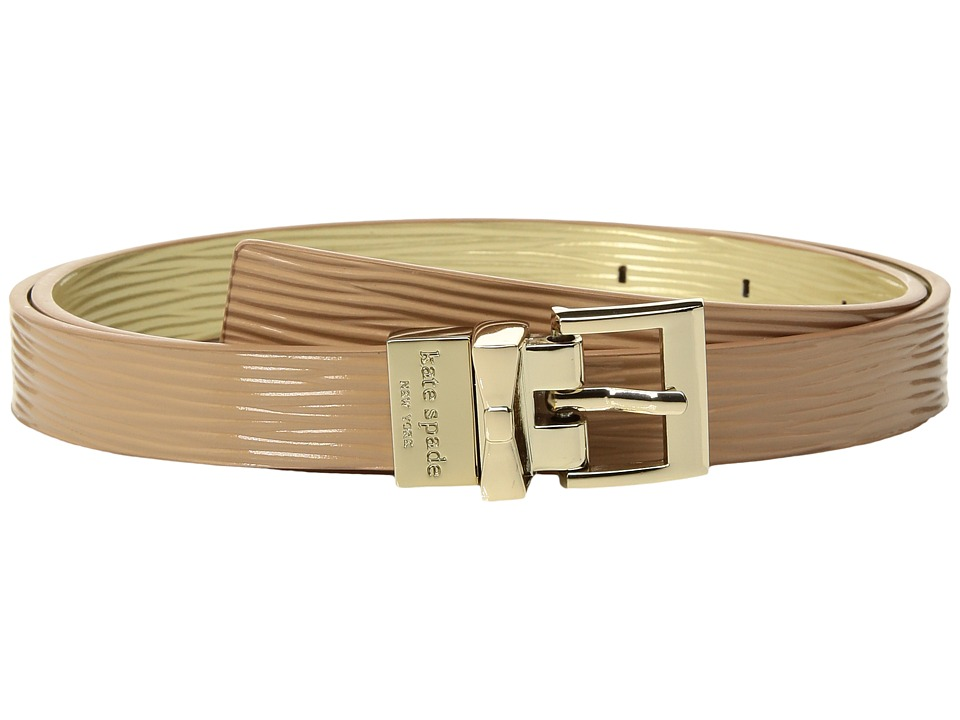 Kate Spade New York - 19mm 3/4 Reversible Textured Patent Leather Belt