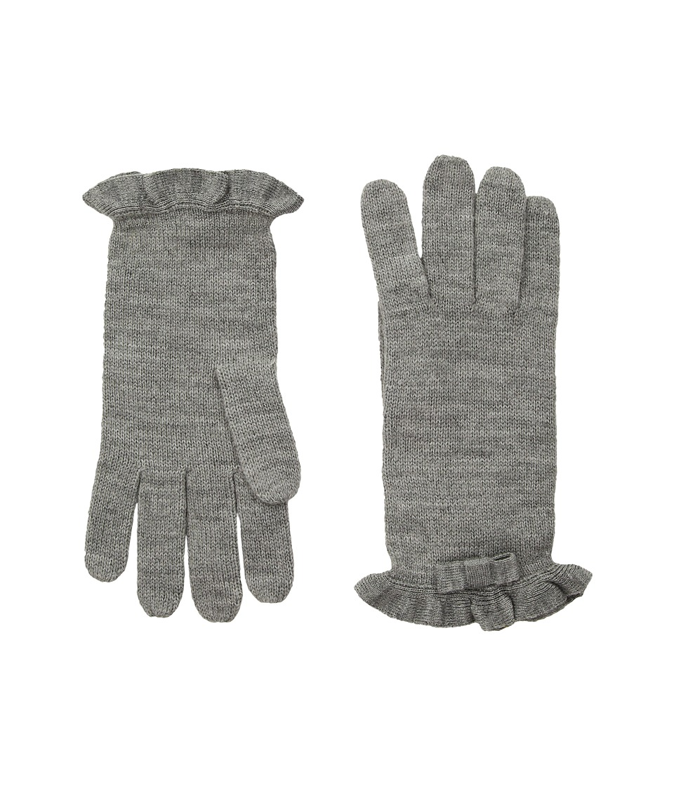 Kate Spade New York Ruffle Gloves (Heather Gray) Dress Gloves