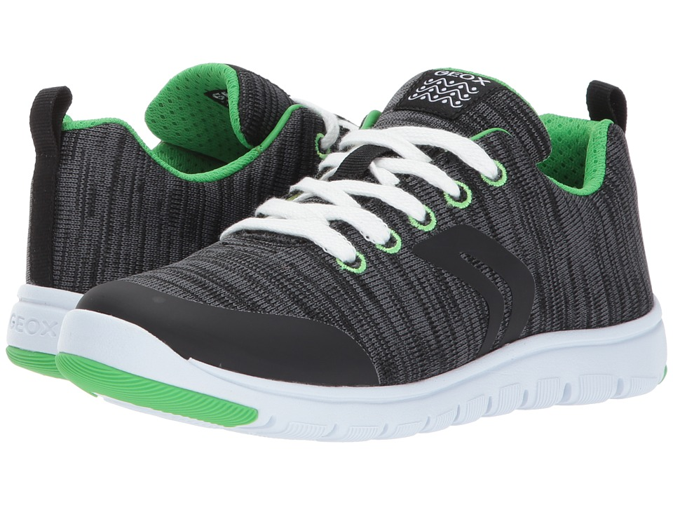 Geox Kids Jr Xunday Boy 6 (Little Kid/Big Kid) (Dark Grey) Boy's Shoes